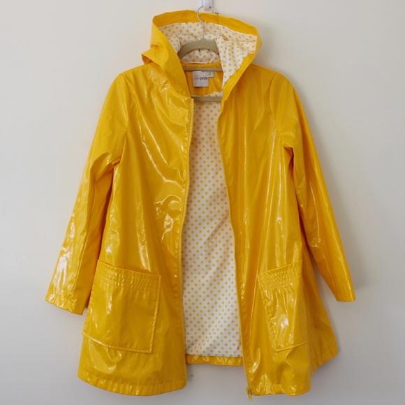 1fafa62d734fe ASOS Petite Jackets   Blazers - ASOS Yellow Raincoat Polka Dot Lining